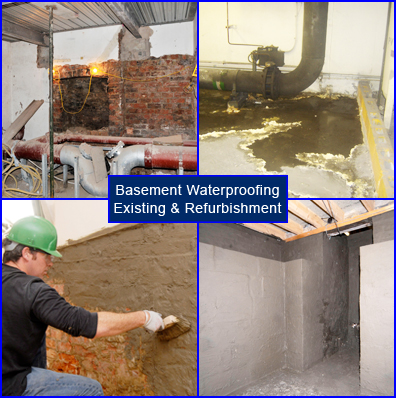 Basement Waterproofing Refurbishment for Existing Building Basements