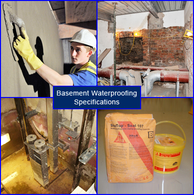 Specifications for Basement Waterproofing